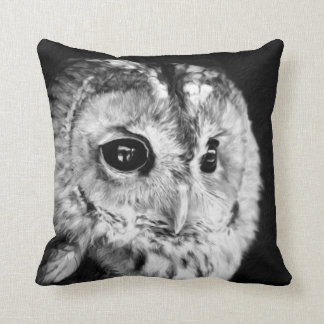 Black and White Cute Owl Lovers Bird Animal Owlet Cushion
