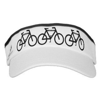 Black and White Cycling Abstract Headsweats Visor