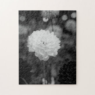 Black and White Dahlia Photo Jigsaw Puzzle