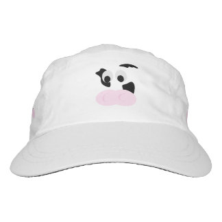 Black and White Dairy Cow or Bovine's face Hat