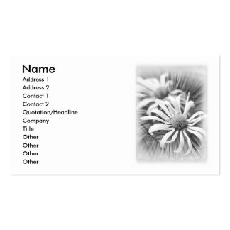 Black And White Daisies Business Card