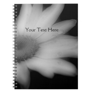 Black And White Daisy Flower Notebook