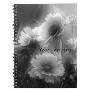 Black And White Daisy Flowers Notebook