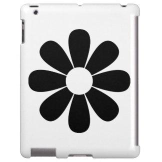 Black and White Daisy iPad Case