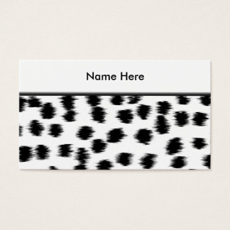 Black and White Dalmatian Print Pattern. Business Card
