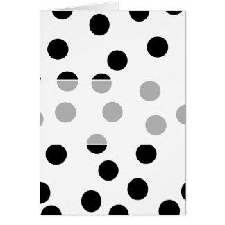 Black and White Dalmatian Spot Pattern. Card