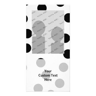 Black and White Dalmatian Spot Pattern. Photo Card Template