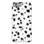 Black and White Dalmatian Spots Pattern Barely There iPhone 6 Case