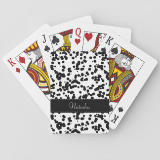 Black and White Dalmatian Spots Playing Cards