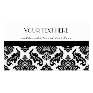 Black and White Damask Double-Sided Standard Business Cards (Pack Of 100)