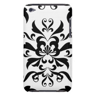 Black and White Damask iPod Touch Case