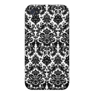 Black and White Damask  Cases For iPhone 4