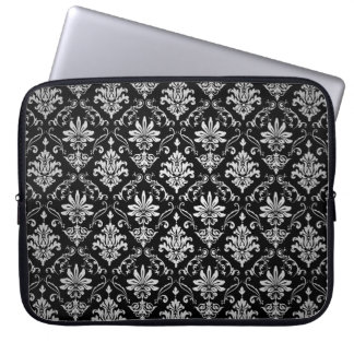 Black and White Damask Computer Sleeves