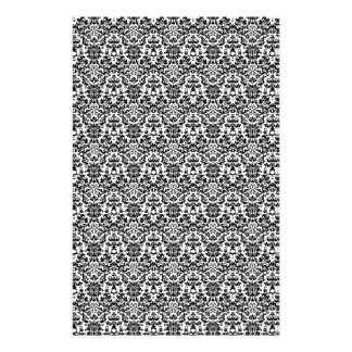 Black and White Damask Craft Paper Personalised Stationery