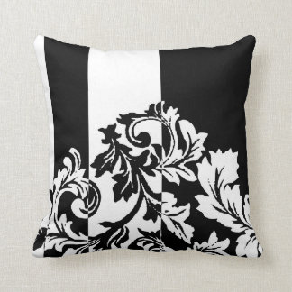Black and White Damask Cushion