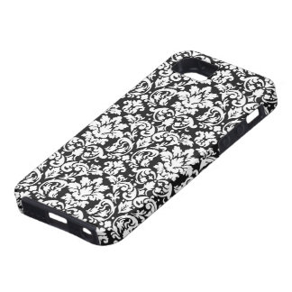 black and white damask flourish iPhone 5 covers