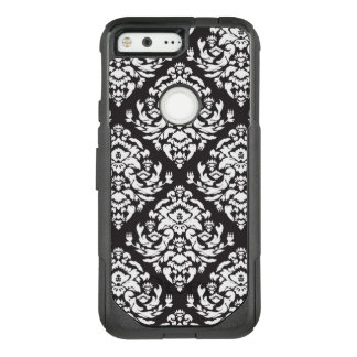Black and White Damask OtterBox Commuter Google Pixel Case
