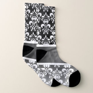 Black and white damask pattern 1