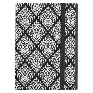 Black and White Damask Pattern Cover For iPad Air