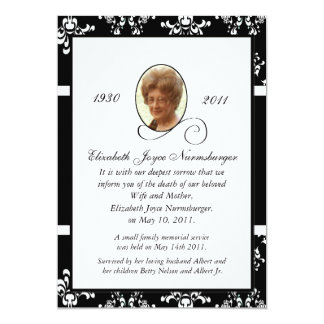 Death Announcement Cards & Invitations | Zazzle.com.au