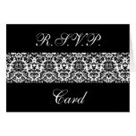Black and White Damask Response Cards