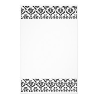 Black and White Damask Stationery