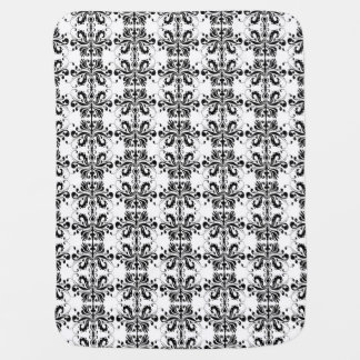 Black and White Damask Swaddle Blankets