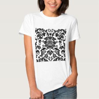 Black and White Damask T-shirts