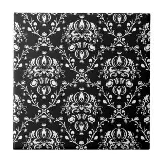 Black and White Damask Tile