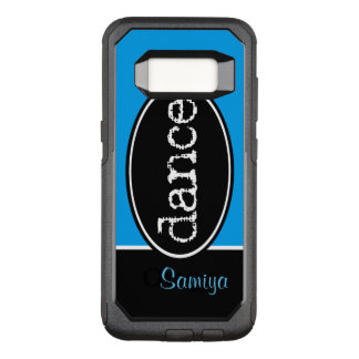 Black and White Dance Oval OtterBox Commuter Samsung Galaxy S8 Case