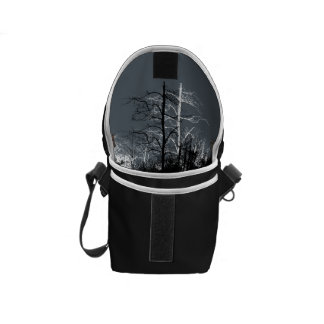 Black and White Dark Forest Bag - Print Inside Courier Bag