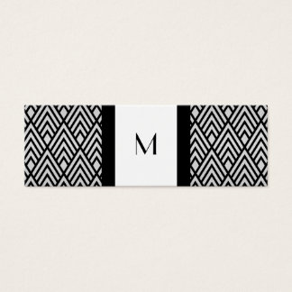 Black and White Deco Monogram Calling Card