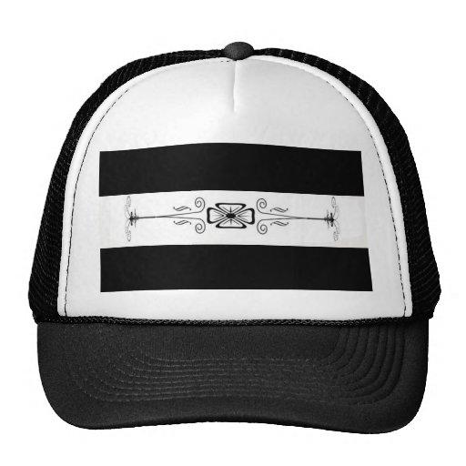 Black And White Decorative Trucker Hat