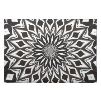 Black And White Decorative Mandala Placemat