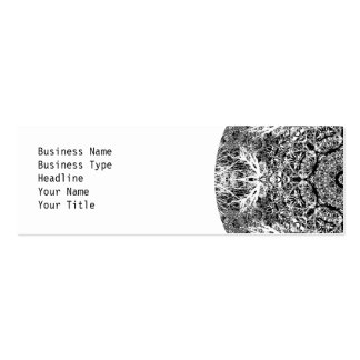 Black and White Decorative Round Pattern Business Card Template