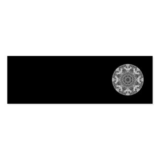 Black and White Decorative Round Pattern. Pack Of Skinny Business Cards
