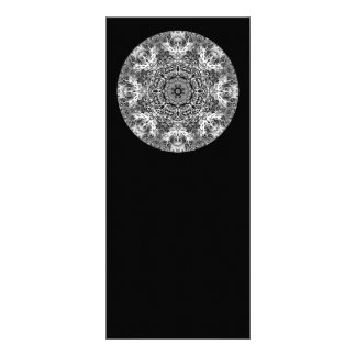 Black and White Decorative Round Pattern. Personalised Rack Card