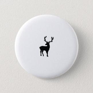 Black and white deer 6 cm round badge