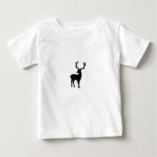 Black and white deer baby T-Shirt