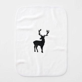 Black and white deer burp cloth