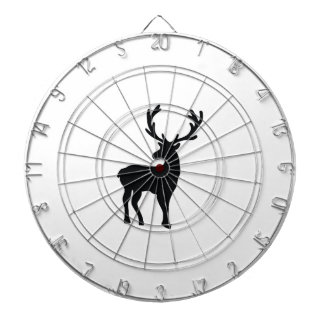 Black and white deer dartboard