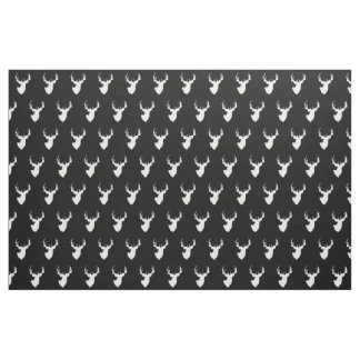 Black and White Deer Fabric