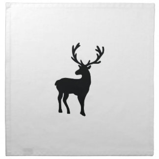 Black and white deer napkin