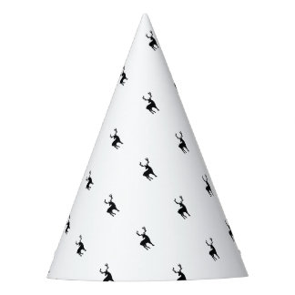Black and white deer party hat