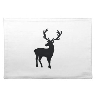 Black and white deer placemat