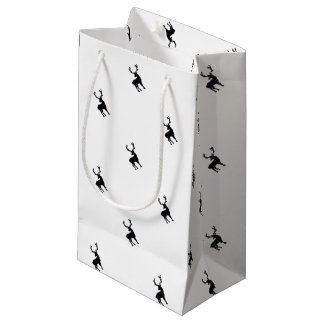 Black and white deer small gift bag