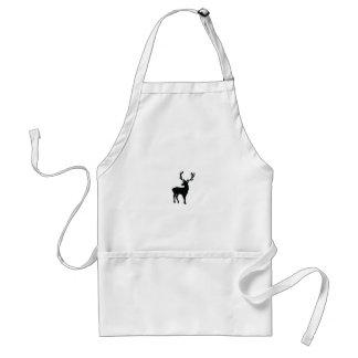 Black and white deer standard apron
