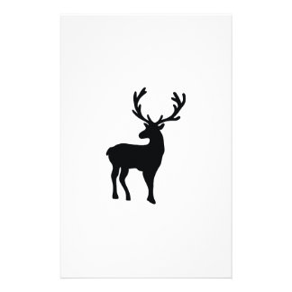 Black and white deer stationery