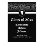 Black and White Dental School Graduation 5x7 13 Cm X 18 Cm Invitation Card