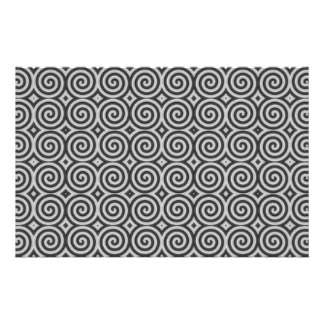 Black and white design. Pattern of Spirals. Custom Stationery